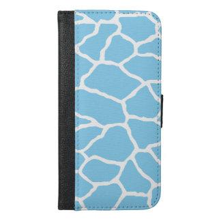 Blue Giraffe Print iPhone 6/6s Plus Wallet Case