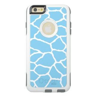 Blue Giraffe Print OtterBox iPhone 6/6s Plus Case