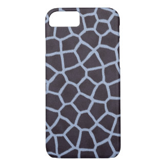 Blue giraffe print pattern iPhone 7 case