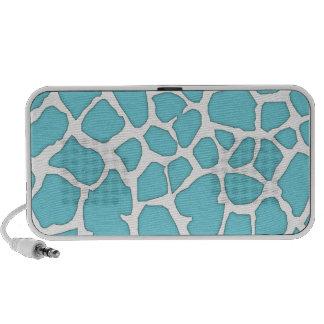 blue giraffe skin portable speakers