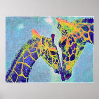 blue giraffes2 posters