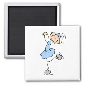 Blue Girl Figure Skater T-shirts and Gifts Square Magnet