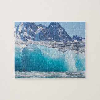 Blue glaceir ice, Norway Jigsaw Puzzle