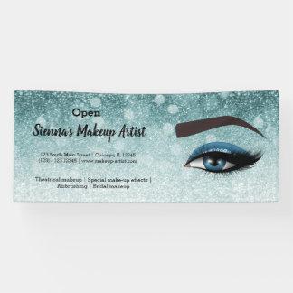 Blue glam lashes eyes | makeup artist banner