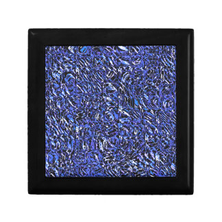 Blue Glass Abstract Gift Box