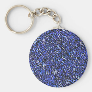 Blue Glass Abstract Key Ring