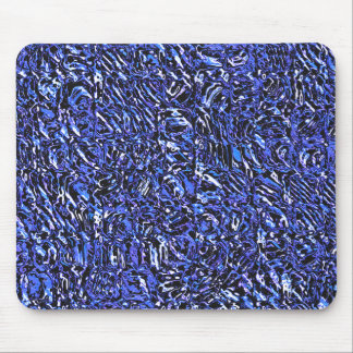 Blue Glass Abstract Mouse Pad