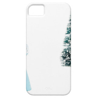 Blue glass angel praying near christmas tree barely there iPhone 5 case