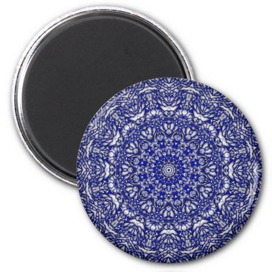 Blue Glass Lace Magnet