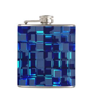 blue glass mosaic flask