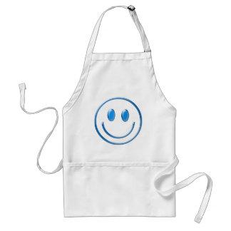 Blue Glass Smiley Face Standard Apron