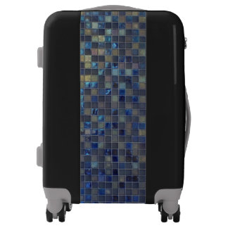 Blue Glass Tiles Luggage