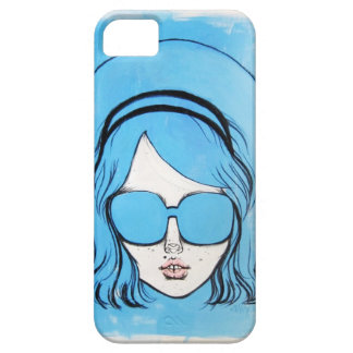 Blue Glasses Girl 1 iPhone 5 Cover