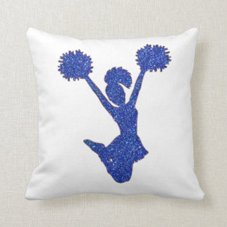 Blue Glitter Cheerleader Cushion