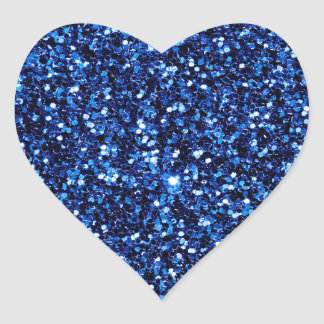 Blue Glitter Heart Sticker