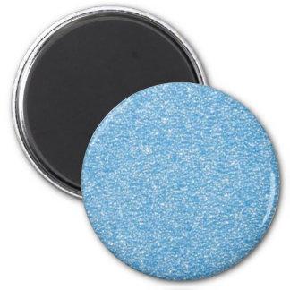 BLUE GLITTER PRINT MAGNET