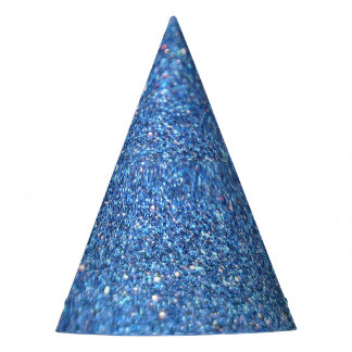 Blue Glitter Shiny Style Party Hat
