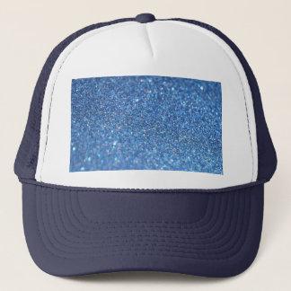 Blue Glitter Shiny Style Trucker Hat