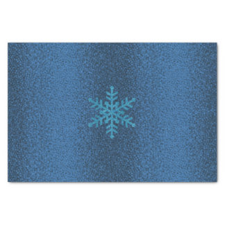 Blue Glitter Snowflake Xmas Holiday Texture Tissue Tissue Paper