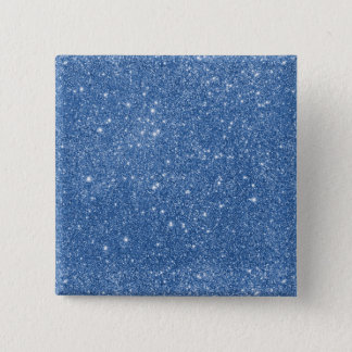 Blue Glitter Sparkles 15 Cm Square Badge