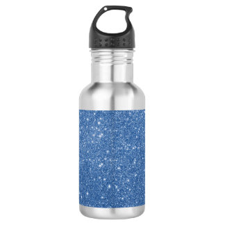 Blue Glitter Sparkles 532 Ml Water Bottle