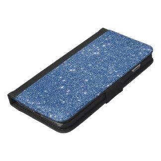 Blue Glitter Sparkles iPhone 6/6s Plus Wallet Case