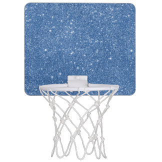 Blue Glitter Sparkles Mini Basketball Hoop