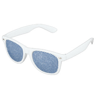 Blue Glitter Sparkles Retro Sunglasses