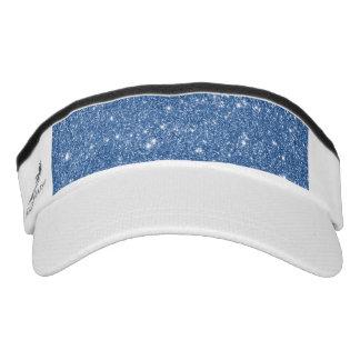 Blue Glitter Sparkles Visor