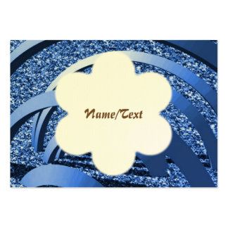 blue glitter with bows pack of chubby business cards