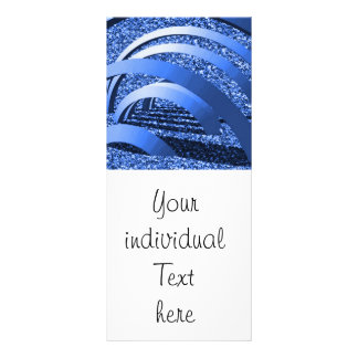 blue glitter with bows personalized rack card