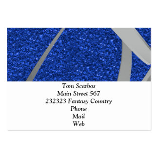 blue glitter with ribbon pack of chubby business cards