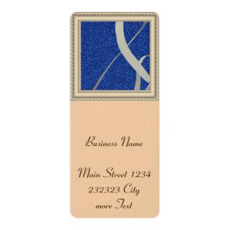 "blue glitter with ribbon 4"" x 9.25"" invitation card"