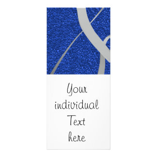 blue glitter with ribbon full color rack card