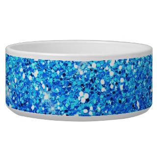 Blue Glitters Sparkles Texture Pet Bowl