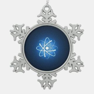 Blue Glow Atom Nerd Ornament