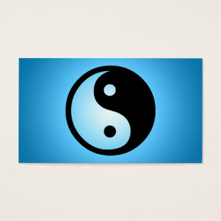 blue glow yin yang business card