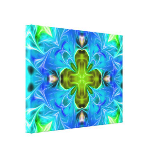 Blue Glowing Abstract Canvas Prints