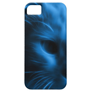 Blue Glowing Kitty iPhone Case
