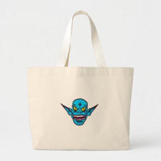 Blue Goblin Monster Head Bags