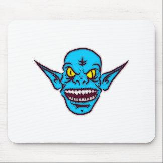 Blue Goblin Monster Head Mousepads