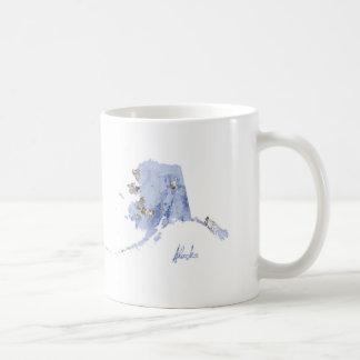 Blue & Gold Alaska State Map Coffee Mug