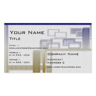 Blue & Gold Blocks Geo Modern Business Cards