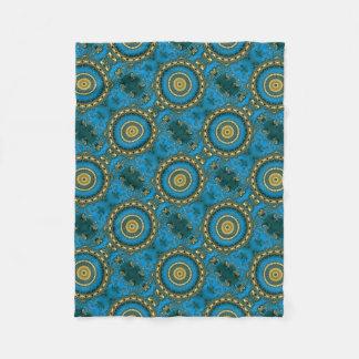Blue Gold Fleece Blanket
