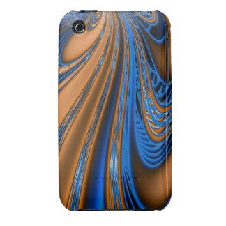 Blue Gold Fractal iPhone 3 Case-Mate Cases