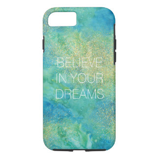 Blue Gold Glam Abstract iPhone 8/7 Case