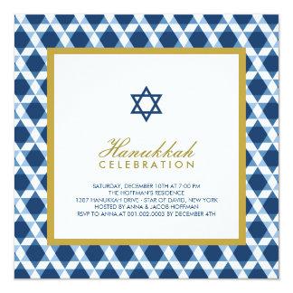 Blue Gold Hanukkah Star Of David Party Invite