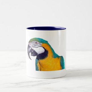Blue & Gold Macaw 11oz Two-Tone Coffee Mug