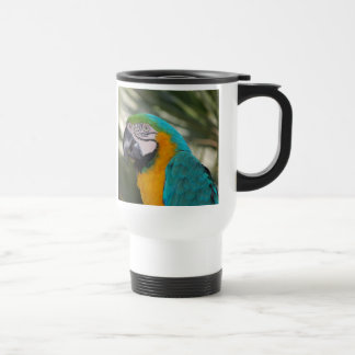 Blue & Gold Macaw Parrot Travel Mug