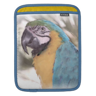 Blue & Gold Macaw Parrot Watercolor Sleeve For iPads